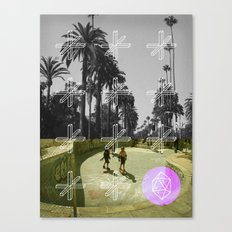 GEO SKATERS Canvas Print