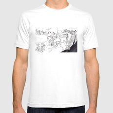 My own Wonderland... White SMALL Mens Fitted Tee