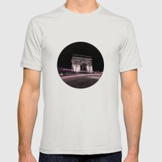 Arc de triomphe Paris France Mens Fitted Tee Silver SMALL