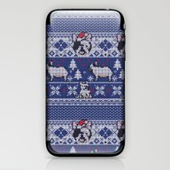 Christmas Frenchie iPhone & iPod Skin