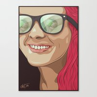 Girl With Glasses Canvas Print