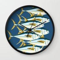School of Tuna, fish Wall Clock