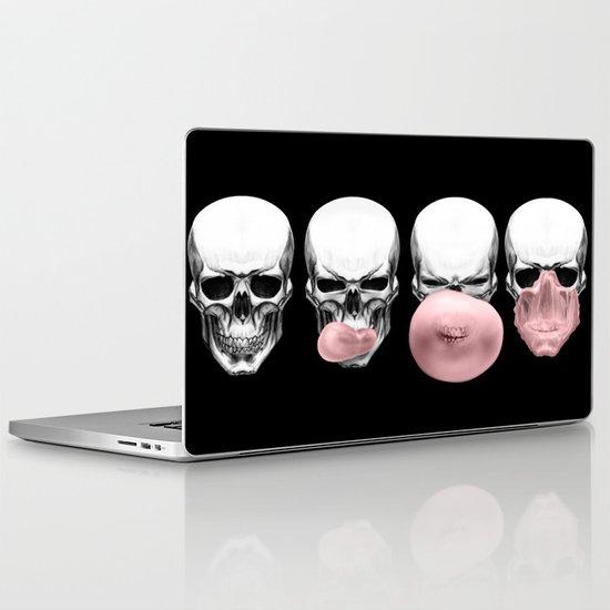 Skulls chewing bubblegum Laptop & iPad Skin