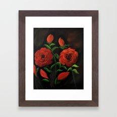 Roses are red my love.. Framed Art Print