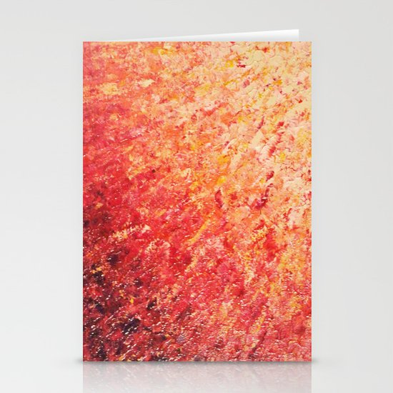SAILOR'S SUNRISE - Beautiful Modern Abstract Crimson and Pink Nature Sky Sunset Ocean Reflection Stationery Card