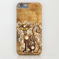 Steampunk Cat Vintage Style iPhone 6 Slim Case