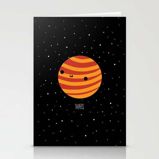 Mars Stationery Card