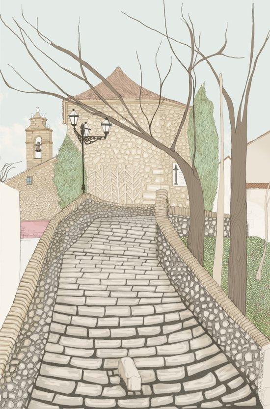 """LA PUENTE"" de Alcañizo Art Print"