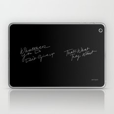 WHATEVER YOU DO /handtest/ Laptop & iPad Skin