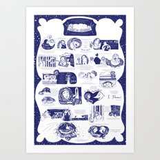 Illustrated poster Art Print