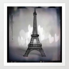 La Ville De L'amour Art Print