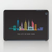 New York Skyline Empire State Poster Black iPad Case