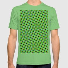 COLORFUL DOT Mens Fitted Tee Grass SMALL
