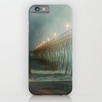 Kure Beach NC Fishing Pier at Night Painterly iPhone 6 Slim Case