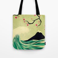 Tote Bag featuring Falling In Love by Yetiland