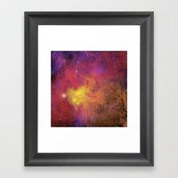 Nebula (plain) Framed Art Print