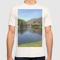 Duckpond Mens Fitted Tee Natural SMALL