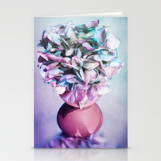 NOSTALGIA - Still life with vase and hydrangea flowers Stationery Card