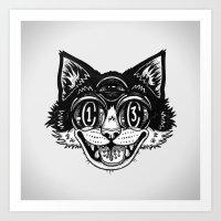 The Creative Cat Art Print