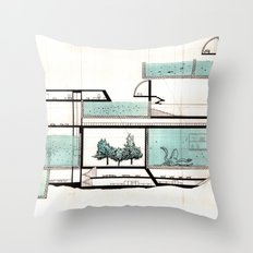 octopus architecture Throw Pillow