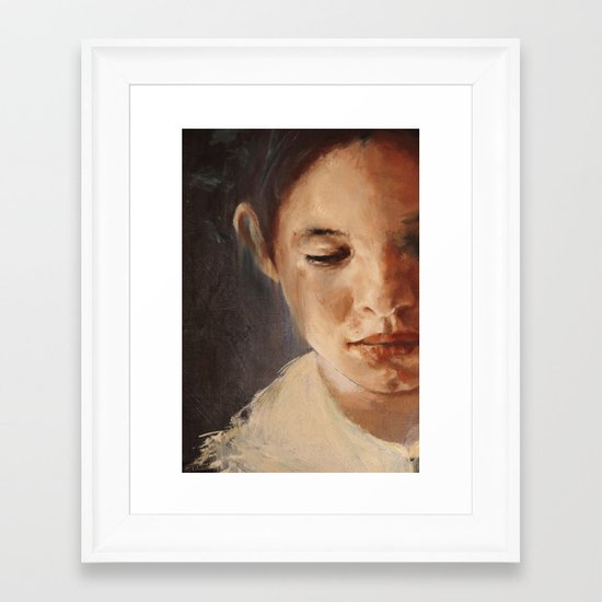 blue boy (detail) Framed Art Print