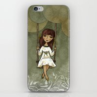 Hannah on a Swing iPhone & iPod Skin