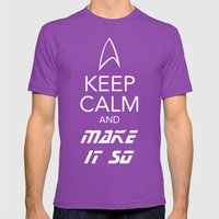 Keep Calm And Make It So Mens Fitted Tee Ultraviolet SMALL