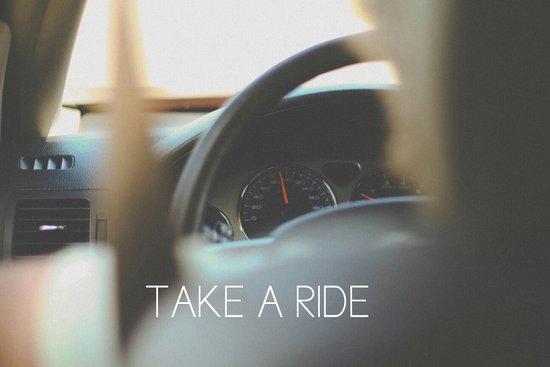 Take A Ride Art Print