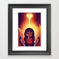 Wrathia's Heart Framed Art Print