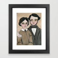 Victorian Couple in Love Framed Art Print