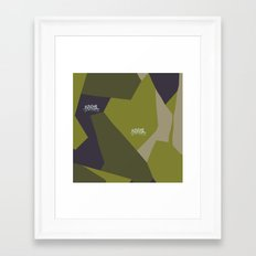 Swedish Camo Graffiti Framed Art Print
