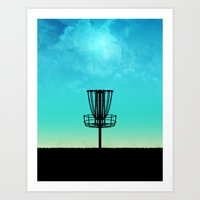 Disc Golf Basket Silhoue… Art Print