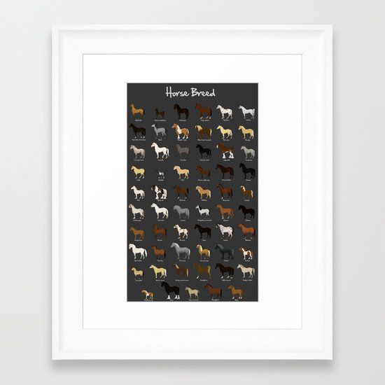 Horse breed Framed Art Print