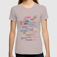 Sweet Awesome Chill Womens Fitted Tee Cinder SMALL