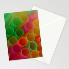 Colorful Straws Photo Stationery Cards