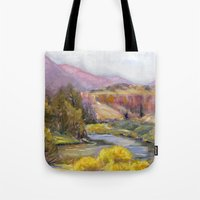 Ruby Mountain Tote Bag