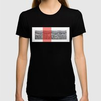Four sides of a box (iii) Womens Fitted Tee Black SMALL