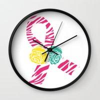 Endometriosis Ribbon 4 Wall Clock