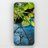 Lily pads, ripples and gold fish iPhone & iPod Skin
