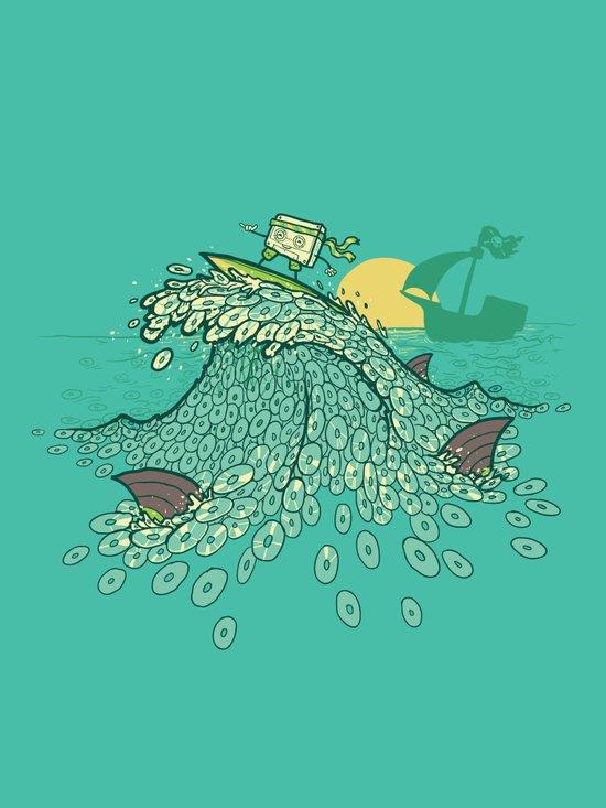 Surfin' Soundwaves Art Print