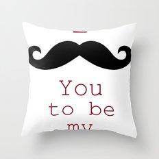 Moustache Throw Pillow