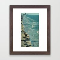 the encroaching wave Framed Art Print