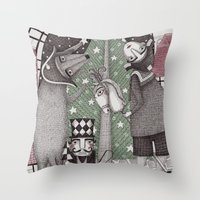 Of Snow And Stars And Ch… Throw Pillow