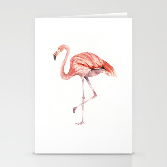 Pink Flamingo Stationery Card
