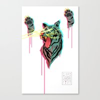 Tiger With F**king Lazers Canvas Print