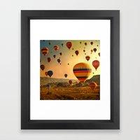 Sunrise in Cappadocia Framed Art Print