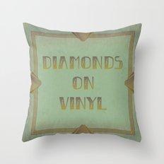 Diamonds on Vinyl Throw Pillow