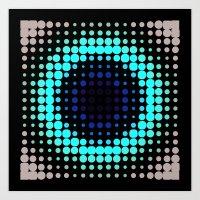 Breathing Bullseye In Re… Art Print