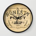 the honesty policy Wall Clock