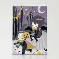 Halloween Walk Stationery Cards